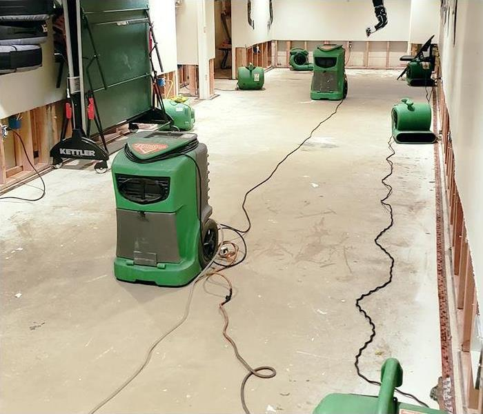 Flooded Basement Cleanup and Restoration After