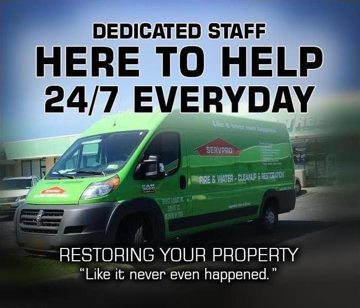 SERVPRO Green truck restoration services