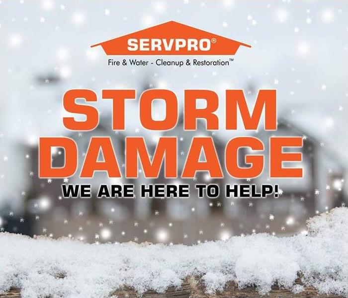 Storm Damage Effective Winter Storm Restoration: Our SERVPRO team has the answers to your property damage repair concerns
