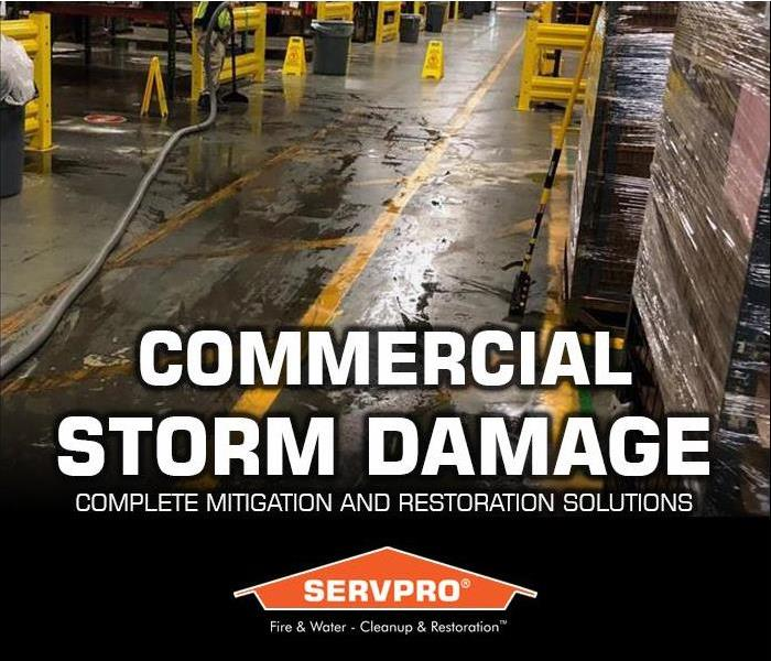 flood and water damage to commercial stock room